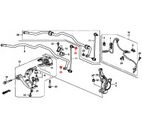 1613, гайка стойки стабилизатора, , 100 р., 94050-12080, Honda Motor Co., ПЕРЕДНЯЯ ОСЬ