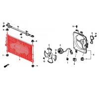 1121, радиатор кондиционера, , 4 980 р., 80110-S10-003SAT, SAT, РАДИАТОРЫ