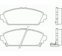 1095, Колодки тормозные передние комплект, , 1 650 р., 45022-S1A-E61KAS, KASHIYAMA, ПЕРЕДНЯЯ ОСЬ