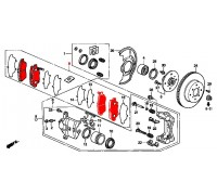 306, колодки тормозные передние комплект, , 990 р., 45022-SE0-G10, SFEC, ПЕРЕДНЯЯ ОСЬ