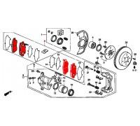 188, колодки тормозные передние комплект, , 690 р., 45022-SS0-525, STARKE, ПЕРЕДНЯЯ ОСЬ