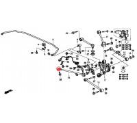 1637, с/блок заднего продольного рычага, , 840 р., HAB093FEB, FEBEST, ЗАДНЯЯ ОСЬ