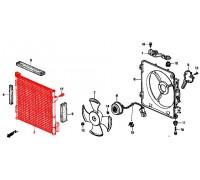 1122, радиатор кондиционера, , 3 990 р., 80110-S01-A11TY, TONG YANG, РАДИАТОРЫ