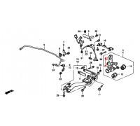 2009, с/блок задней цапфы верхний, , 480 р., 52395-S5A-004VTR, VTR, ВТУЛКИ И САЙЛЕНТБЛОКИ