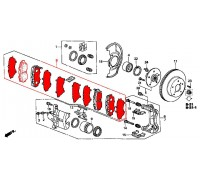 303, колодки тормозные передние комплект, , 2 700 р., 45022-S87-A01REM, REMSA, ПЕРЕДНЯЯ ОСЬ
