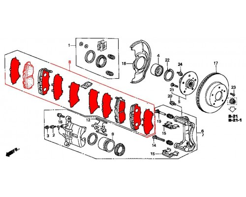 колодки тормозные передние комплект