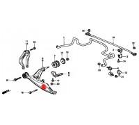 1722, с/блок переднего нижнего рычага внешний под амортизатор, , 570 р., HAB042FEB, FEBEST, ВТУЛКИ И САЙЛЕНТБЛОКИ