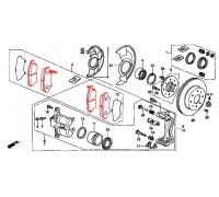 1408, колодки тормозные передние комплект, , 2 100 р., 45022-SR3-L02, TRW/LUCAS, ПЕРЕДНЯЯ ОСЬ