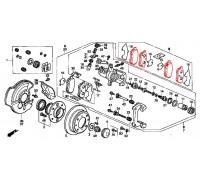 1234, колодки тормозные задние комплект, , 1 980 р., 43022-S04-E03, NISSIN, ЗАДНЯЯ ОСЬ
