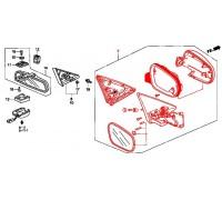 1361, зеркало правое механическое, , 1 280 р., VM-256B-2D-R, TAY, ЗЕРКАЛА