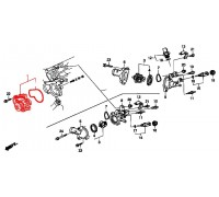 1105, помпа водяная, , 1 980 р., 19200-PV1-A01GMB, GMB, ЗАПЧАСТИ ДЛЯ ЗАМЕНЫ ГРМ